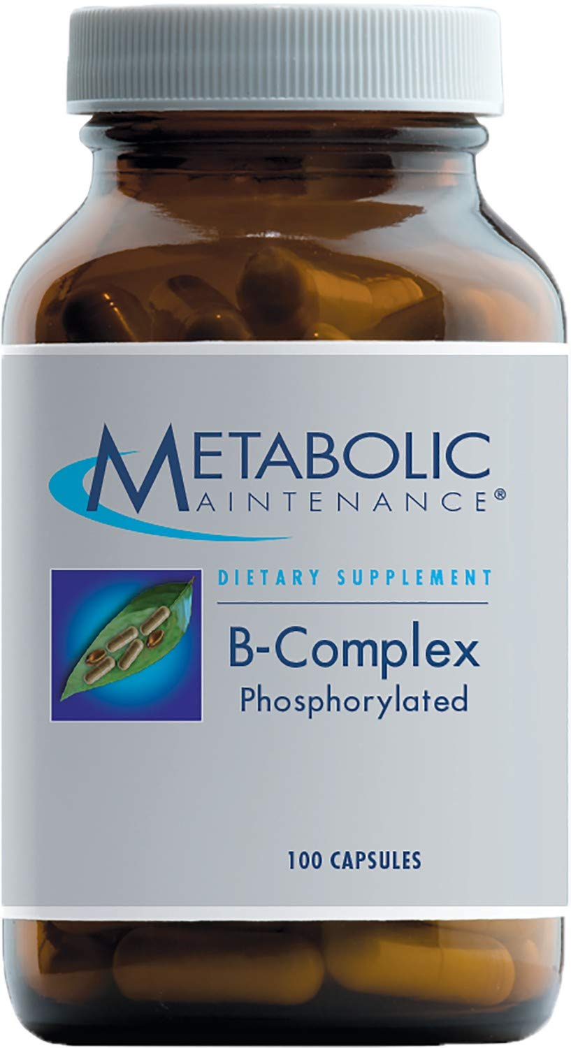 Metabolic Maintenance B-Complex Phosphorylated – Active B Vitamins with Methyl B12, B6 as P-5-P Methylfolate 5-MTHF 100 Capsules