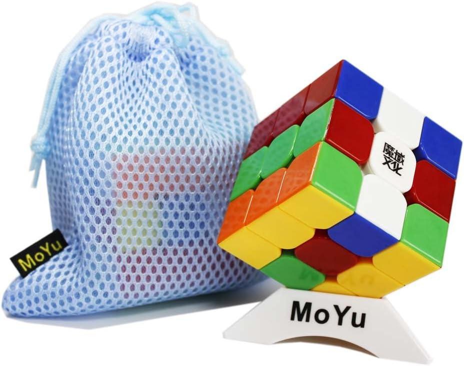 Moyu AoLong V2 3x3 3 Capas Cubo Mágico aolong mejoran la versión Cubo 3x3x3, Vienen con una Bolsa y una Base de pie como Regalo (sin Etiquetas) : Amazon.es: Juguetes y juegos