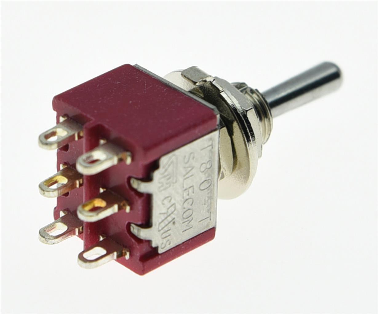 salecom 3 x DPDT 3 Position auf off auf Gitarre Mini Toggle Schalter ...