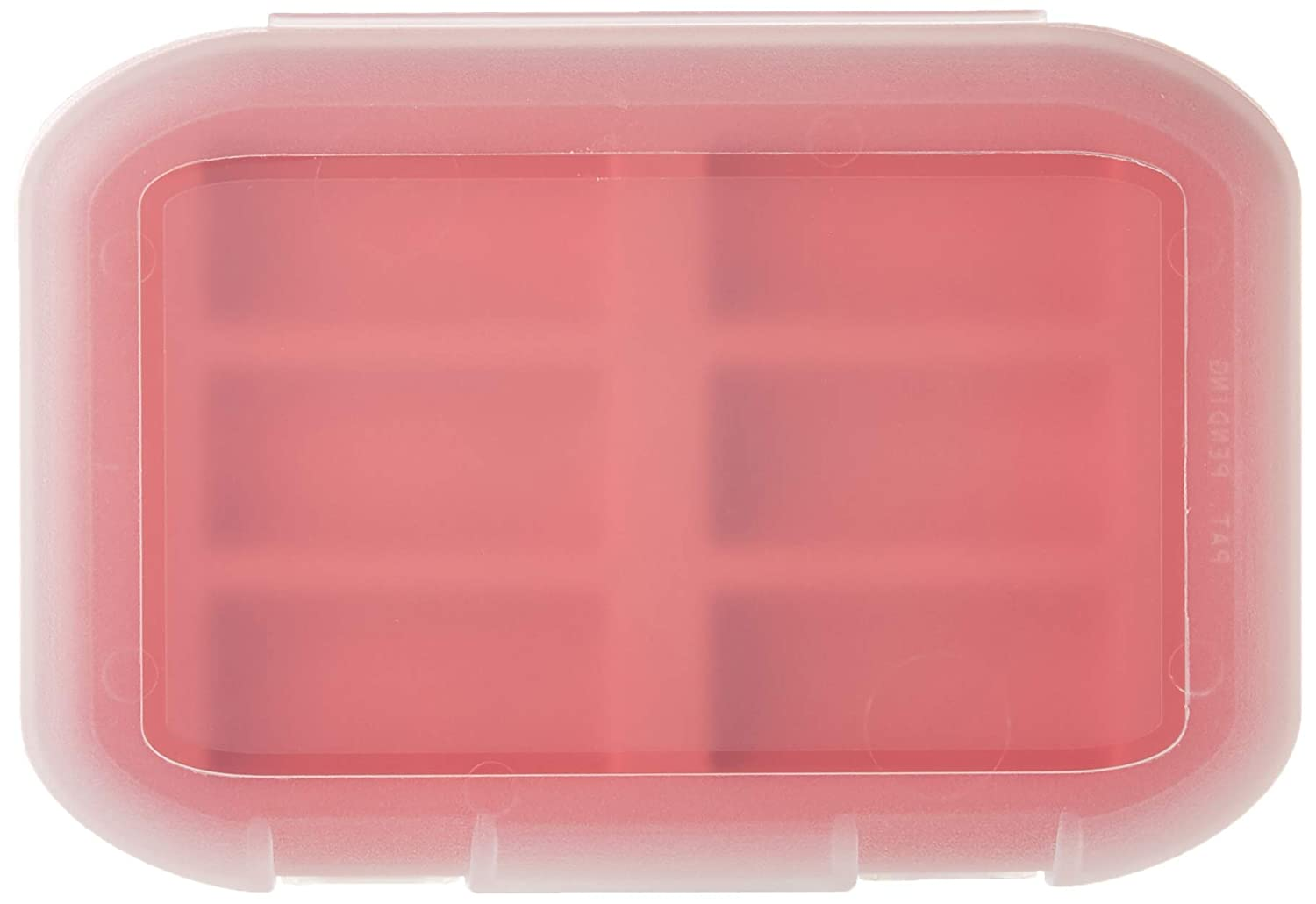 Holds 6 Made in The USA Malamute Rugged CR123 Battery Storage Case Red Traction Feet
