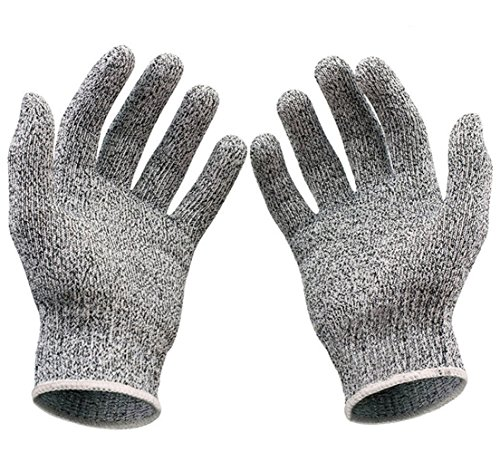 Royal Opera House Costume (1 Sets (1 Pair) Illustrious Popular Hot Stainless Steel Gloves Mesh Protector Protection Grade-5 Wire Metal Color Heather Grey Size XL)
