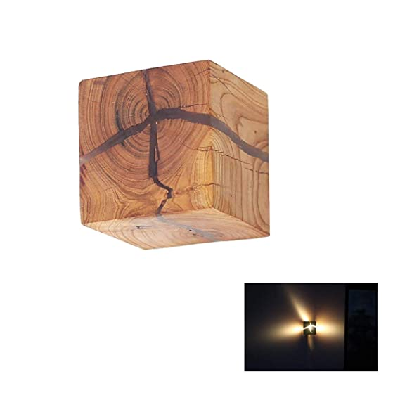 Holz Wandleuchte, moderne minimalistische LED Massivholz kleine ...