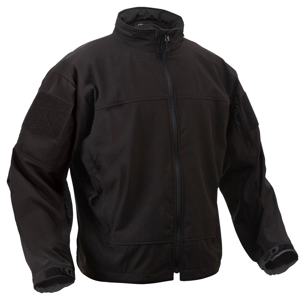 Rothco Black Soft Shell Uniform Jacket, Black