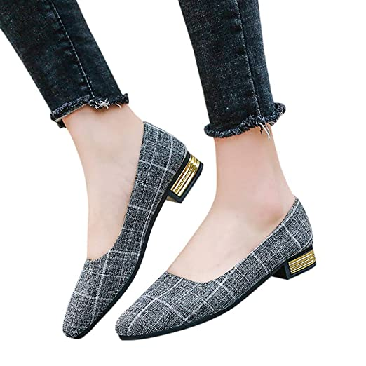 4a4455c228e5 Amazon.com  Womens Pointed Toe Loafers Shoes