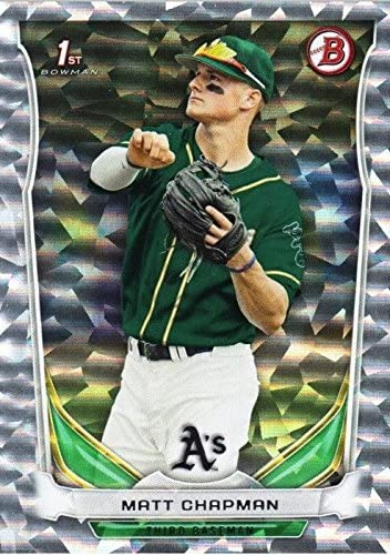 SILVER ICE Parallel 2014 Bowman Draft Picks /& Prospects Matt Chapman Oakland Athletics Baseball Rookie Card #DP21