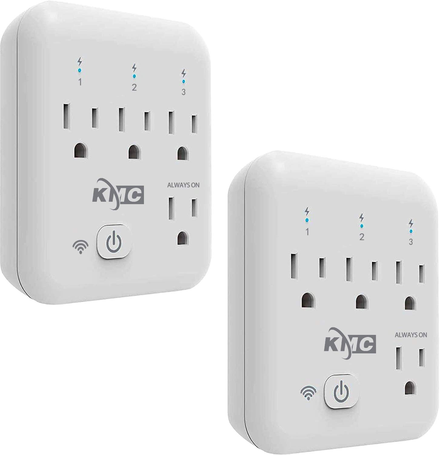 Smart plug, KMC 4 Outlet Energy Monitoring Wifi Outlet Compatible with Alexa, Google Home & IFTTT, No Hub Required, Remote Control Your Home Appliances from Anywhere, ETL Certified(2 Pack): Industrial & Scientific