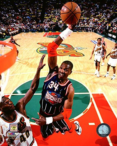 Hakeem Olajuwon Houston Rockets Action Photo (Size: 8