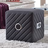 Container Direct Grey Fabric Ottoman Bluetooth Speaker