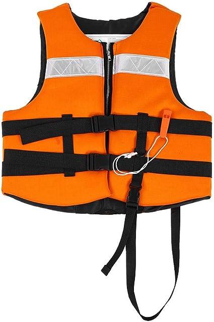 Chaleco Salvavidas para Adultos Port/átil Flotabilidad del Chaleco con El Silbato Y Hebillas Ajustables para Mujeres,B,M