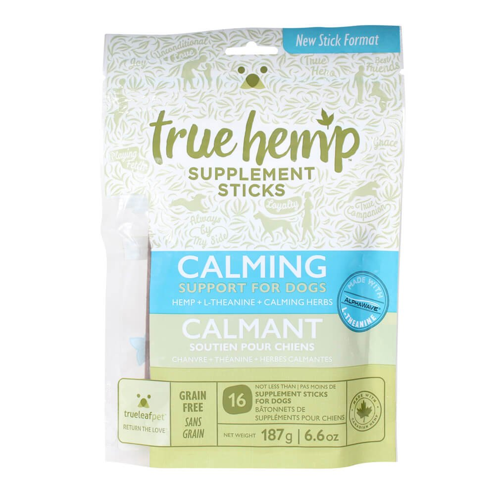 True Leaf Pet 77061 Hemp Supplement Sticks, Calming Support for Dogs, 6.6 oz