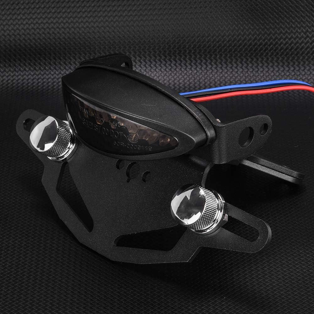 FATExpress Support de Plaque dimmatriculation Noir pour Moto Support de lumi/ère arri/ère Support d/éliminateur daile Bien rang/é pour 2018 2019 2020 KTM 790 Duke Duke790 18-20