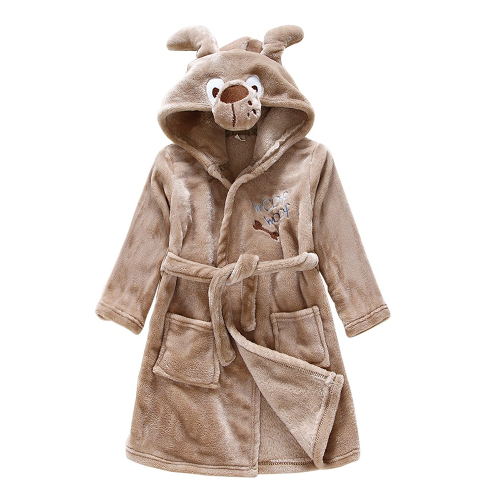 Vine Bébé Nightgown Peignoir de bain à capuche pour bébé Cartoon flanelle animaux Pyjamas Enfants Vine Trading Co. Ltd B161010YP005926V