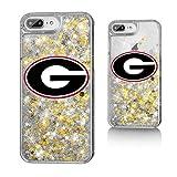 Keyscaper NCAA Georgia Bulldogs UGA Insignia Glitter Case for iPhone 8 Plus/7 Plus/6 Plus, Clear