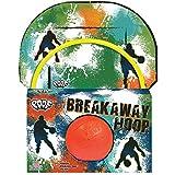 POOF Over The Door Breakaway Basketball Hoop with Backboard and Foam Balll