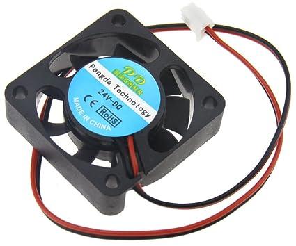 24V 2 Pin Extruder Brushless Cooling Fan For 3D Printer For RepRap Mendel  Prusa