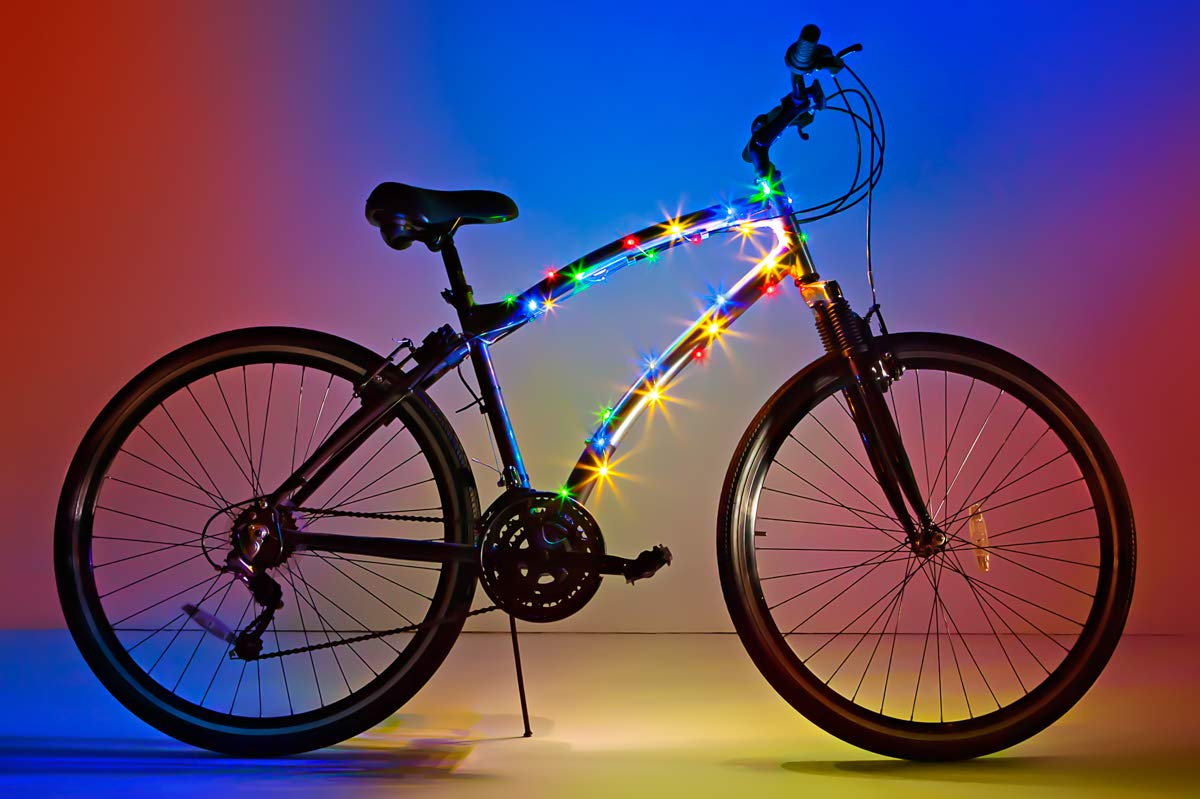 Brightz, Ltd. Cosmic LED Bicycle Frame Light, Multicolor