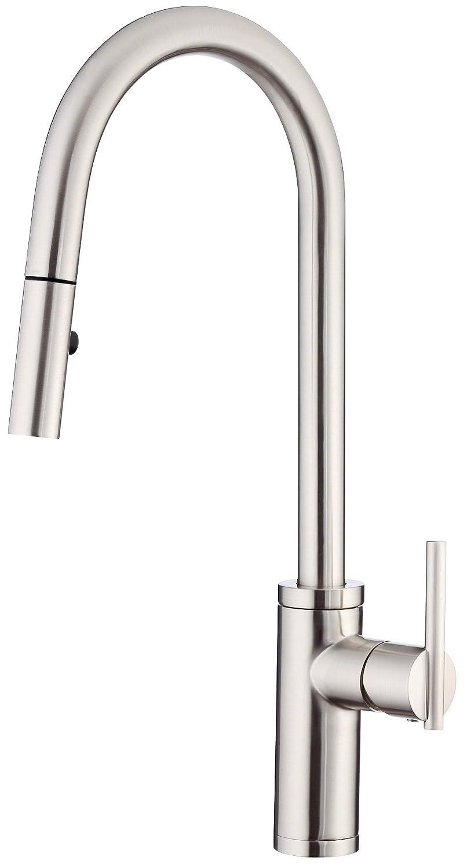 danze d454058ss parma caf single handle pull down kitchen faucet rh amazon com loose kitchen faucet danze danze kitchen faucets canadian tire