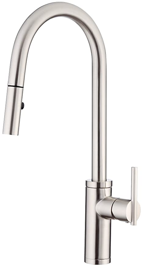 Danze D454058ss Parma Cafe Single Handle Pull Down Kitchen Faucet