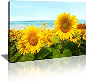 Flower Wall Art for Living Room Canvas Painting for Bathroom Bedroom Decor Sunflower Artwork Canvas Prints Modern Kitchen Office Home Decoration Picture