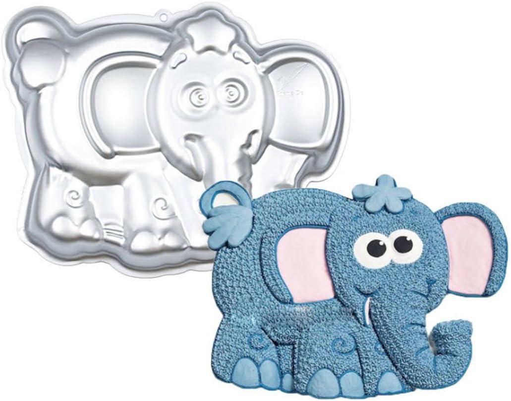 قالب كيك من الالمنيوم على شكل فيل 10 بوصة من WJSYSHOP