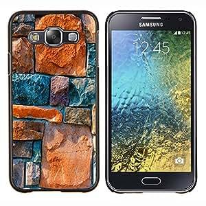 YiPhone /// Prima de resorte delgada de la cubierta del caso de Shell Armor - Piedra Architecture Pared Diseño Rocas colorido - Samsung Galaxy E5 E500