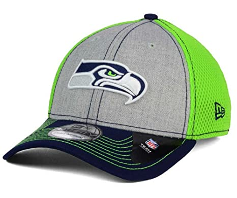 online store 6246a 3c0a2 Image Unavailable. Image not available for. Color  New Era Seattle Seahawks  Heathered Neo Flex Fit Small   Medium Lime Green Hat Cap