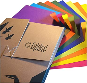 Amazon.com: Aitoh CF-6 Foil Origami Paper, 9.75-Inch by 9.75-Inch, 18-Pack | 355x372