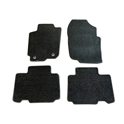 CarsCover Custom Fit 2013-2020 Toyota RAV4 SUV Front and Rear Carpet Car Floor Mats Heavy Cushion Ultramax Asphalt Black: Automotive