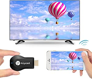 Anycast WiFi DLNA Airplay Miracast Dongle Online Streaming Device for TV 1080p Receiver HDTV Wireless Wi-Fi TV Monitor & Projector Mirascreen HDMI Adapter Media Streamer for Smartphone, Tablet and PC