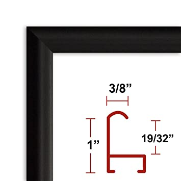39 x 55 satin black poster frame profile 15 custom size picture frame