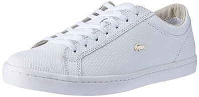 ca3bcc4186 Lacoste Straightset 316 3 CAW WHT, Baskets Femmes, Blanc 001, 42 EU ...
