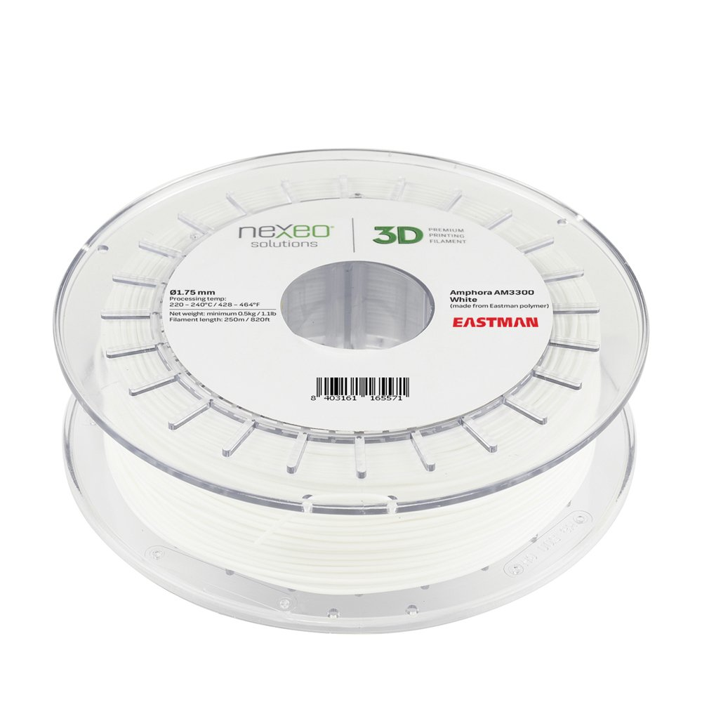 Nexeo 3D Printer Filament Copolyester Amphora AM3300 White 1.75mm 1.1lb Nexeo Solutions 16116557