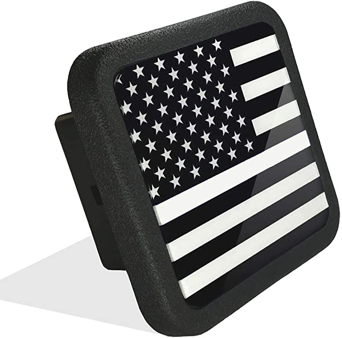Awesome Hitch Covers American Army Flag Oval Shape 2 Hitch Receiver Size Measures 4 x 6 3//8 Inch Thick High Grade Aluminum