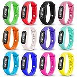 SINMA 12pack Wholesale Run Step Watch Pedometer Calorie Counter Digital LCD Walking Distance Bracelet