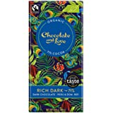 Chocolate & Love Organic Chocolate - Rich Dark 71% Dark Chocolate, 80g