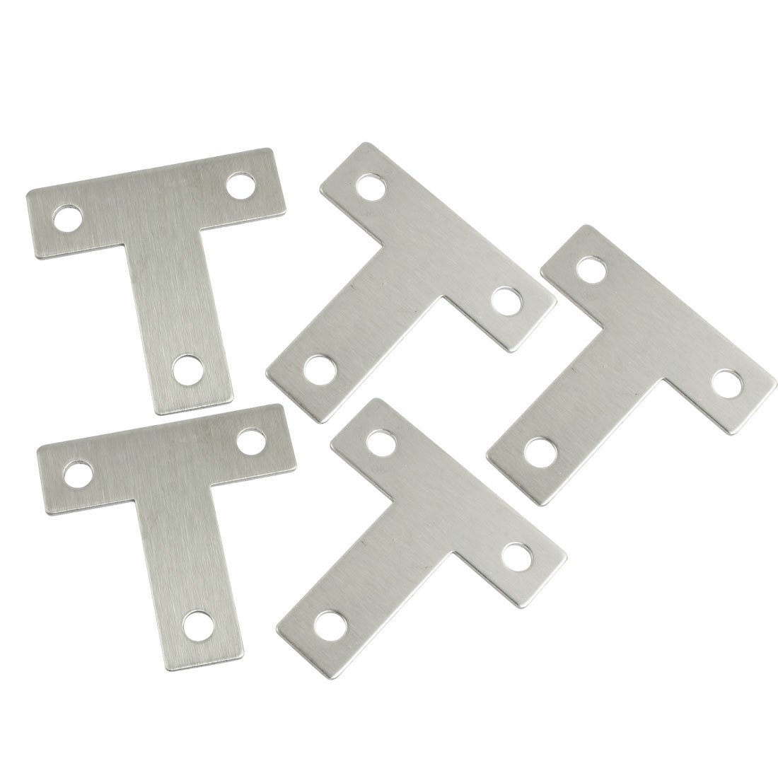 SODIAL(R) 5 Pcs Angle Plate Corner Brace Flat T Shape Repair Bracket 40mm x 40mm