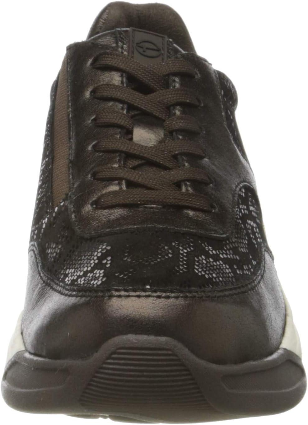 Tamaris 1-1-23720-25 930 dames sneaker Metallic bruin
