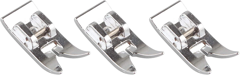 Prensatelas universal para máquina de coser doméstica, 3 unidades, para prensatelas de punto recto, para Brother, Elna, Janome, Jones, Frister y Rossman, Husqvarna, Pfaff, Singer, Toyota, Viking