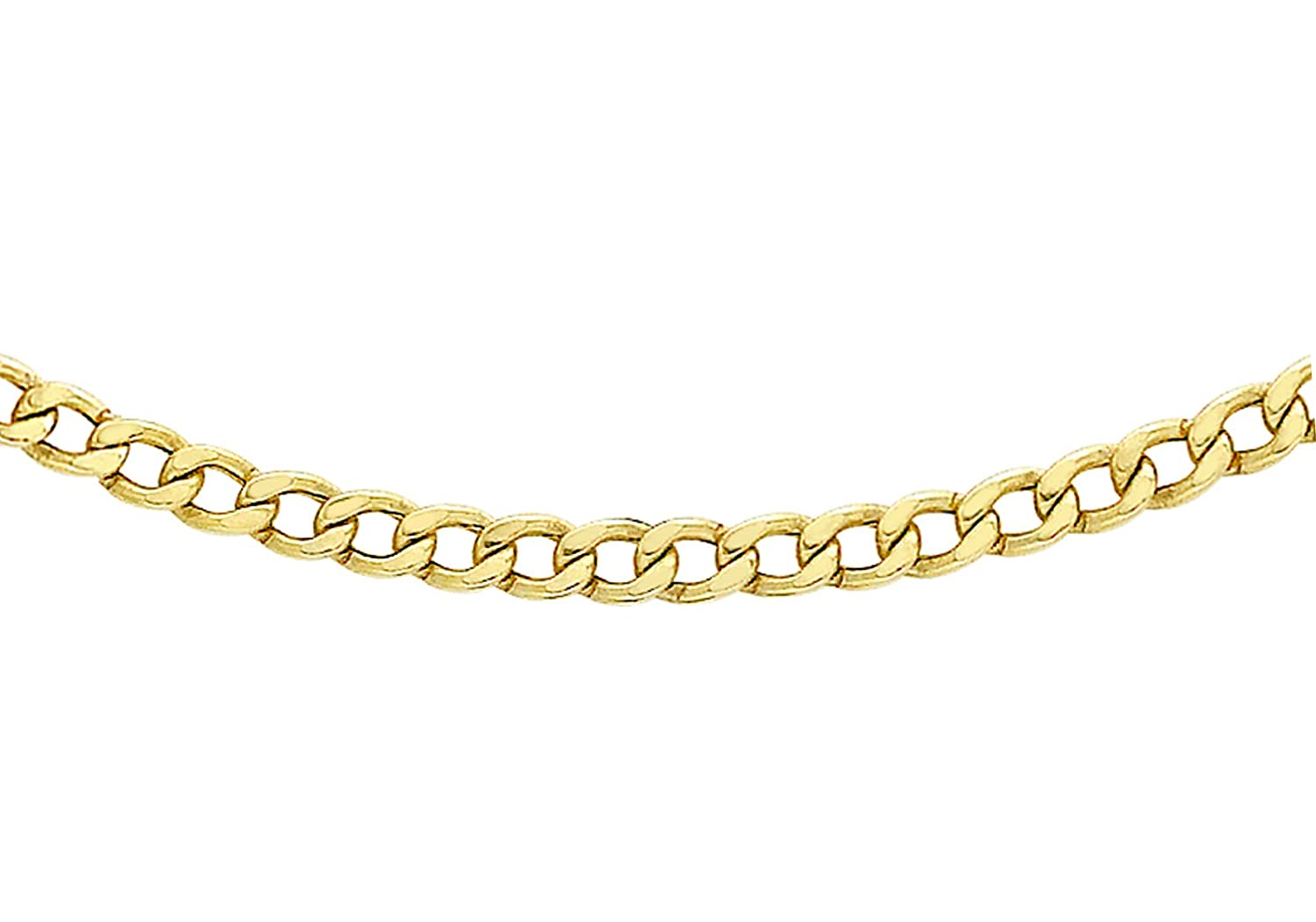 Carissima Gold Unisex 9 ct Yellow Gold Triple Curb Chain of Length 51 cm toxPYLd
