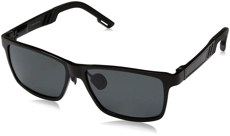 8d9862fe25 ELITERA Aluminum Magnesium Polarized Men Sunglasses For Sports Driving  Traval E6560 (Black Gray  Amazon.in  Clothing   Accessories
