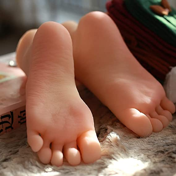17cm Silicona Hembra Maniquí Zapatos de pie Cadenas Pantalla ...