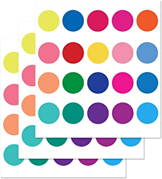 Parlaim Rainbow Multi Size Kids Wall Stickers Peel And Stick Dot Decals Polka Dot Wall Decals For Kids Room Living Room Bedroom Classroom
