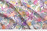 pot leaf fabric - Leaves Fabric - Marijuana Leaf Glow by camomoto - Leaves Fabric with Spoonflower - Printed on Basic Cotton Ultra Fabric by the Yard