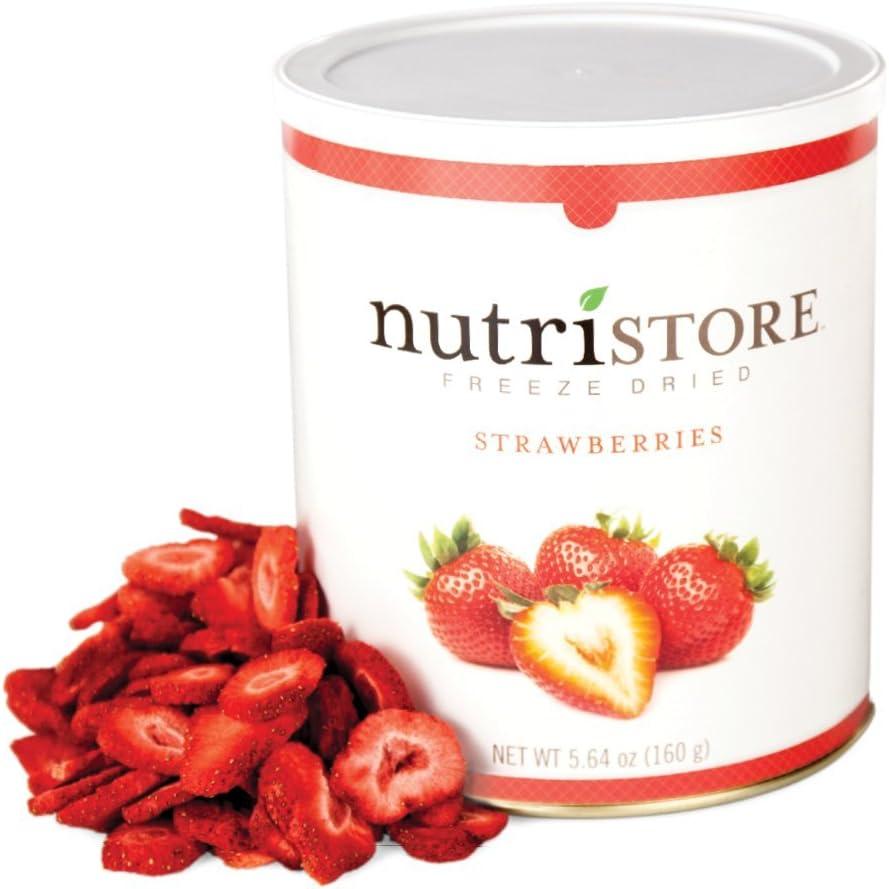 Nutristore Freeze Dried Strawberries | Healthy Snack | Emergency Survival Bulk Food Storage | Amazing Taste & Quality | 25 Year Shelf Life