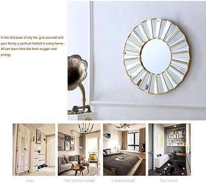 Liuhoulin Espejo de Pared Espejo Grande Espejo de baño Enmarcado Espejo Redondo Dormitorio Espejo de vanidad Sala de Estar Porche Espejo Decorativo de Pared Espejo para Colgar en la Pared: Amazon.es: Hogar