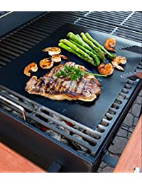 Buy 1 set of 2 BBQ GRILL MAT sheets, Reusable, Non-stick, Make Grilling Easy! dispense