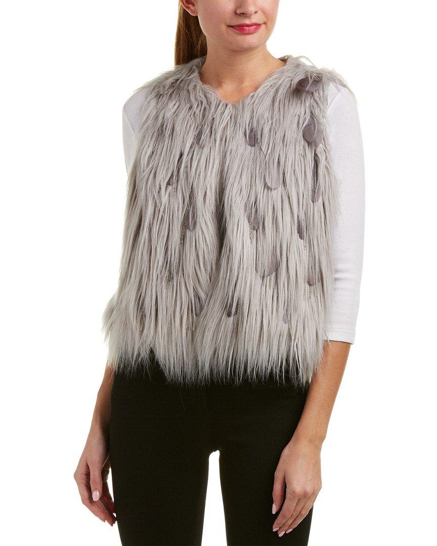 Elie Tahari Womens Vest, S, Grey