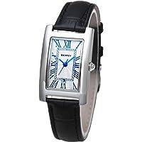 BERNY Women's Quartz Watch Roman Numeral Small Dial Leather Strap Watch