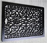 Vintage Old Style Rectangular Floor Grate Replica, Huge! Made of Solid Cast Iron