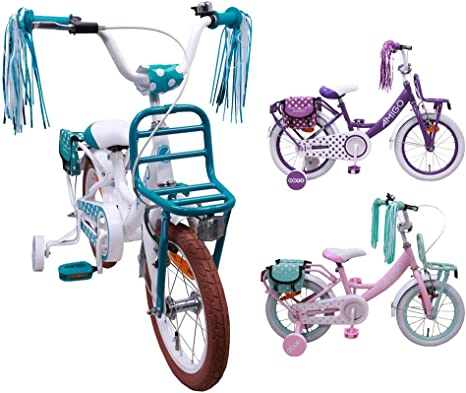 AMIGO Bicicleta para niños de 14 Pulgadas, con Ruedas de ...
